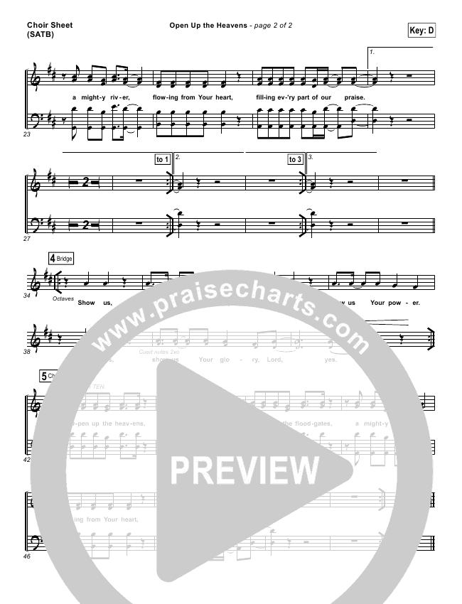 Open Up The Heavens Choir Sheet (SATB) (Vertical Worship)