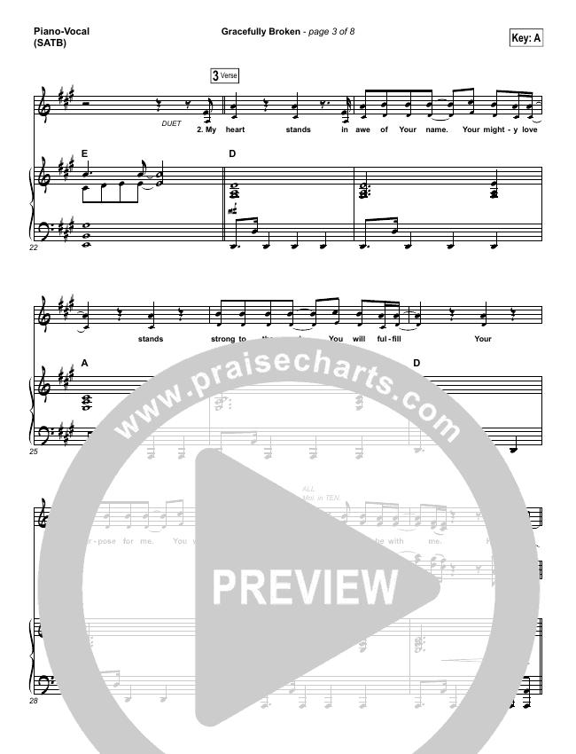 Gracefully Broken Piano/Vocal (SATB) (Matt Redman / Tasha Cobbs)