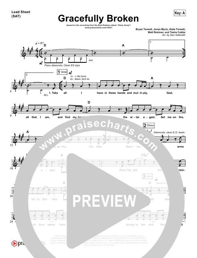 Gracefully Broken Lead & Piano/Vocal (Matt Redman / Tasha Cobbs)