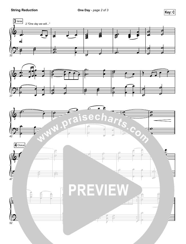 One Day (When We All Get To Heaven) String Pack (Matt Redman)