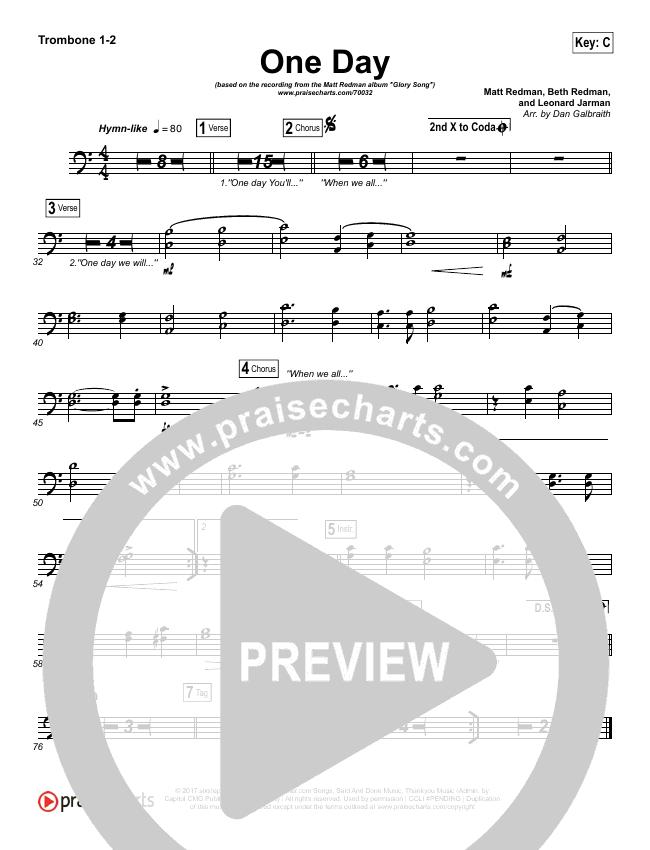 One Day (When We All Get To Heaven) Brass Pack (Matt Redman)