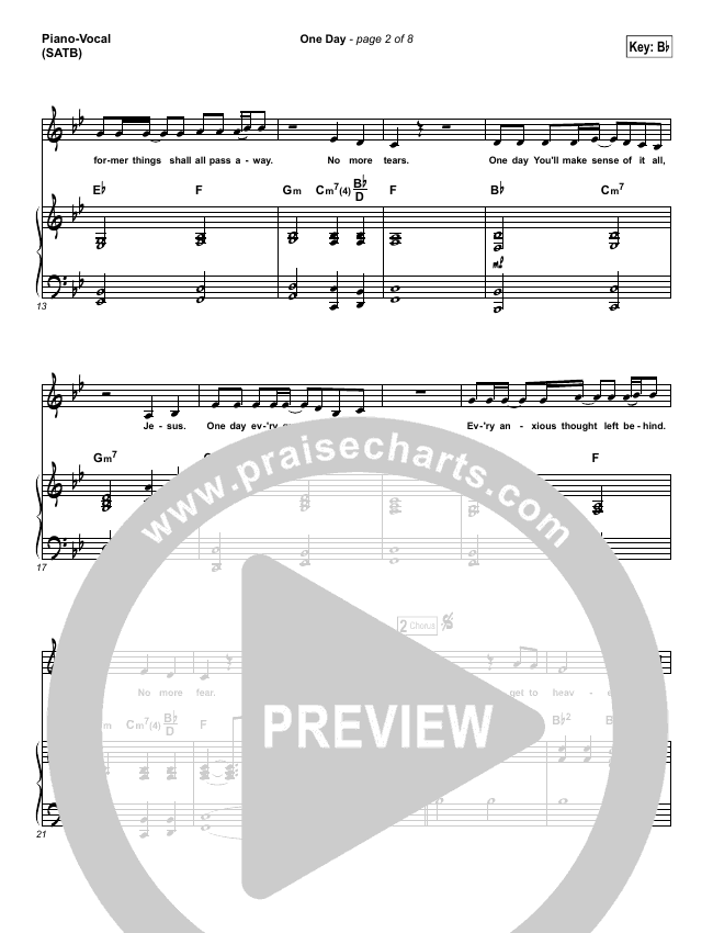 One Day (When We All Get To Heaven) Piano/Vocal (SATB) (Matt Redman)