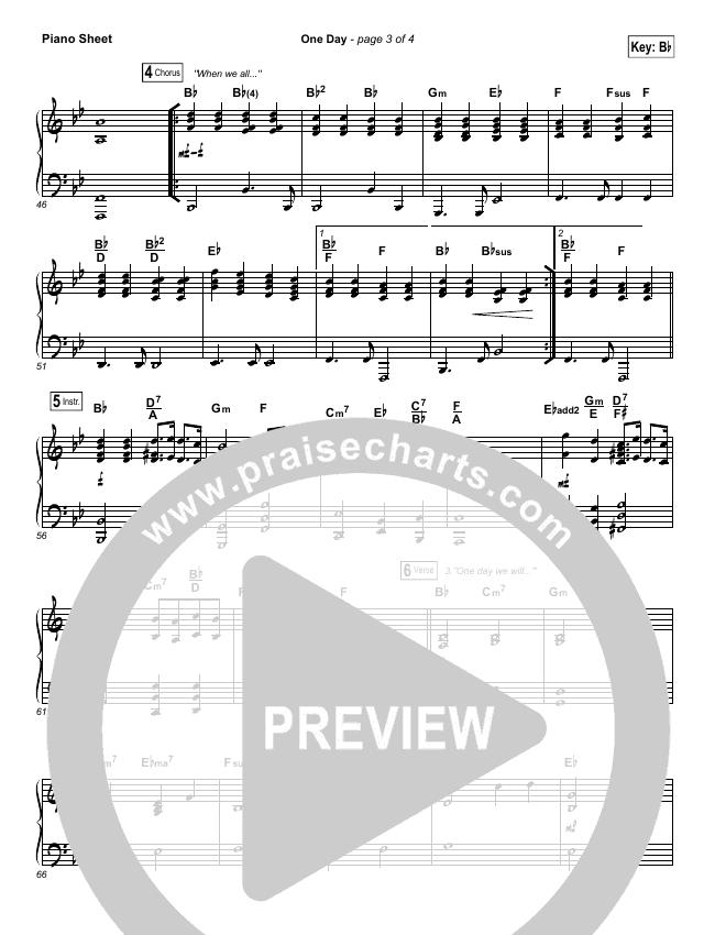 One Day (When We All Get To Heaven) Piano Sheet (Matt Redman)