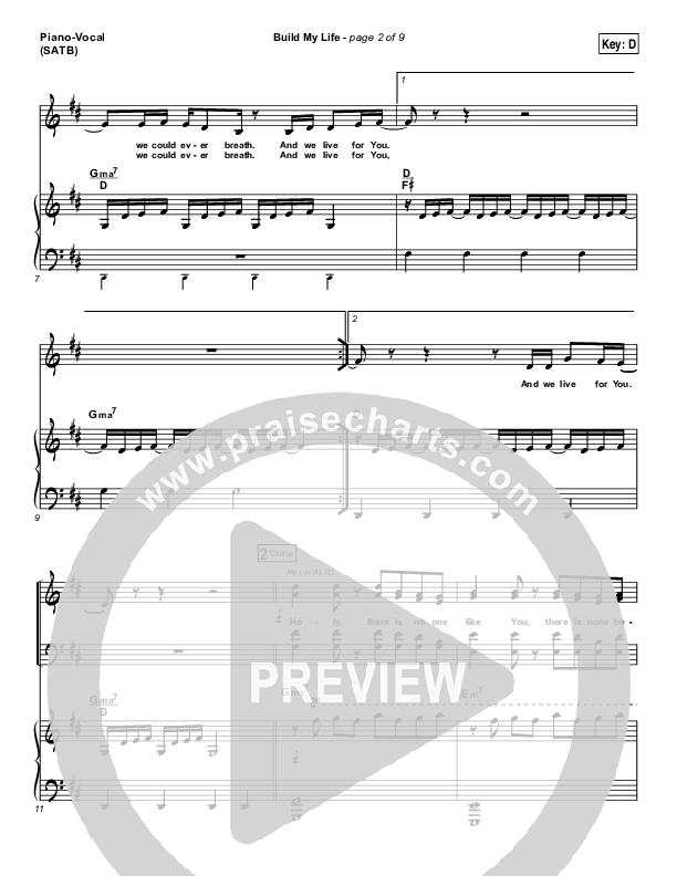 Build My Life Piano/Vocal (SATB) (Christy Nockels)