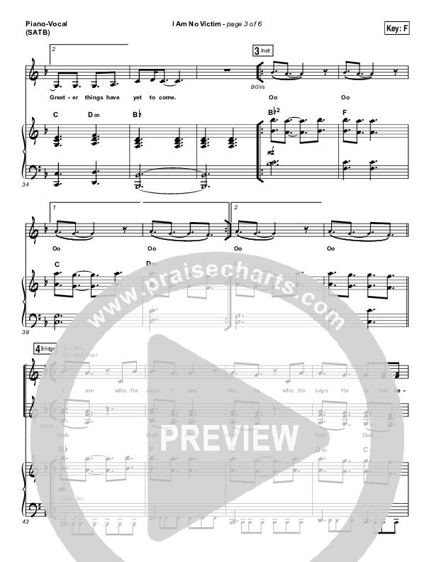 I Am No Victim Piano/Vocal (SATB) (Kristene DiMarco)