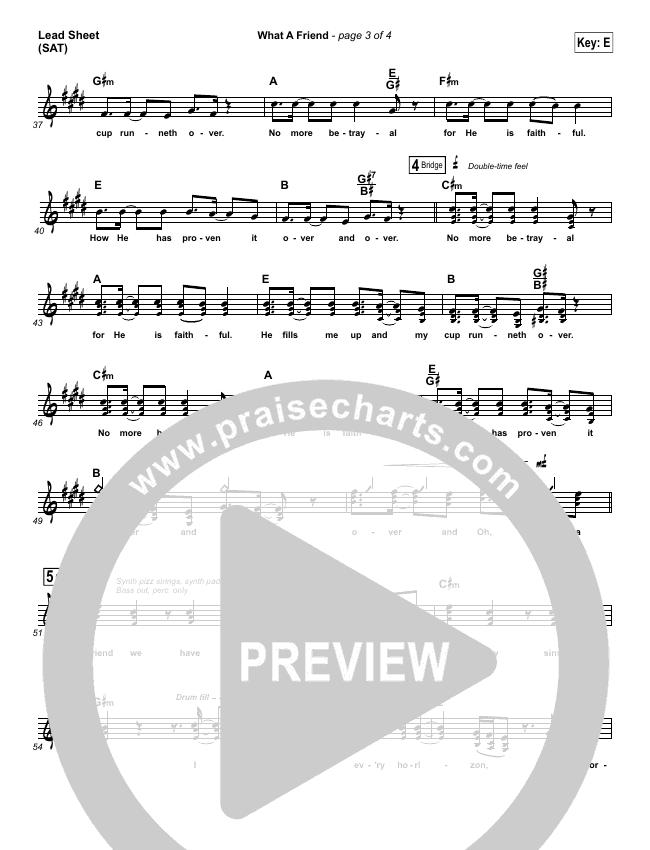 What A Friend Orchestration & Finale (Matt Maher)