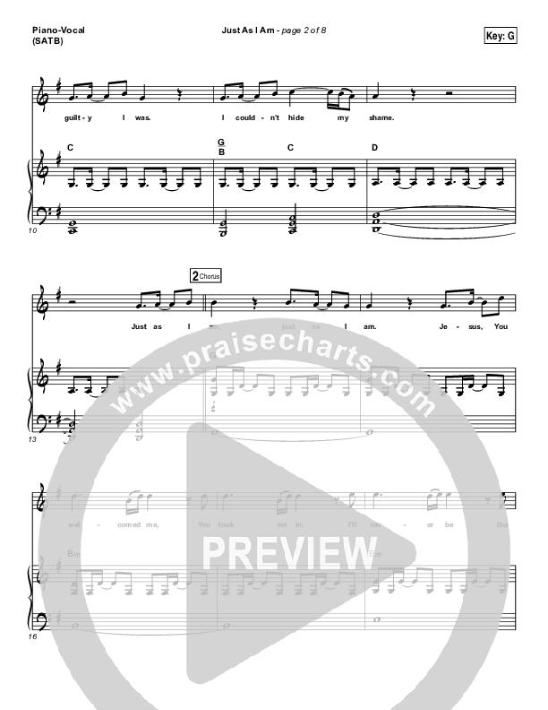 Just As I Am Piano/Vocal (SATB) (Matt Maher)
