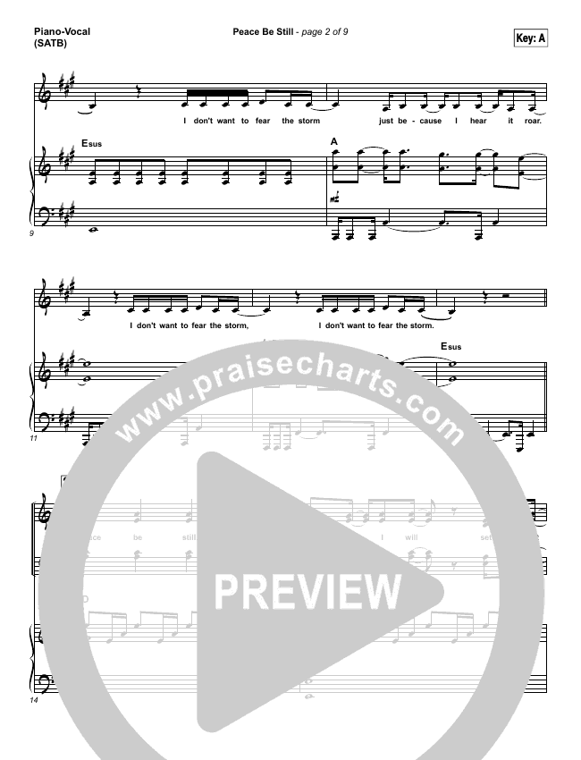 Peace Be Still Piano/Vocal (SATB) (The Belonging Co / Lauren Daigle)
