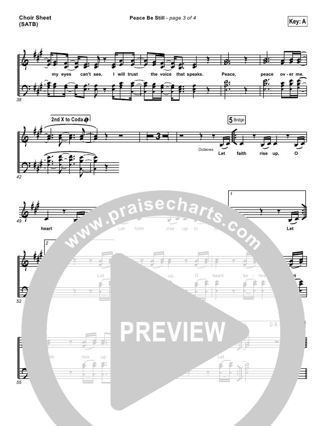 Peace Be Still Choir Sheet (SATB) (The Belonging Co / Lauren Daigle)