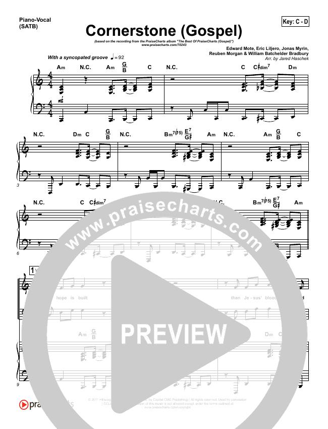 Cornerstone (Gospel) Piano/Vocal (SATB) (PraiseCharts)