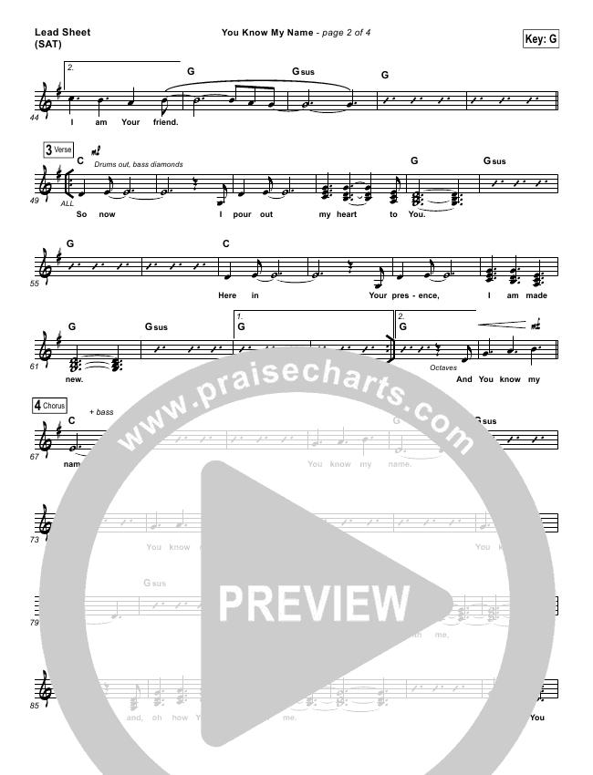 You Know My Name Lead & Piano/Vocal (Tasha Cobbs / Jimi Cravity)