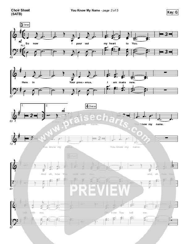 You Know My Name Choir Sheet (SATB) (Tasha Cobbs / Jimi Cravity)