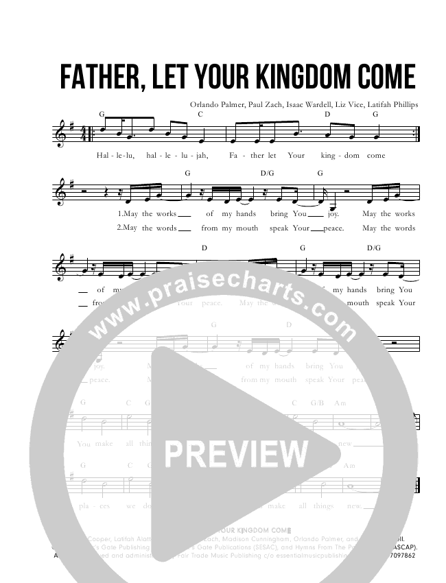 Father, Let Thy Kingdom Come