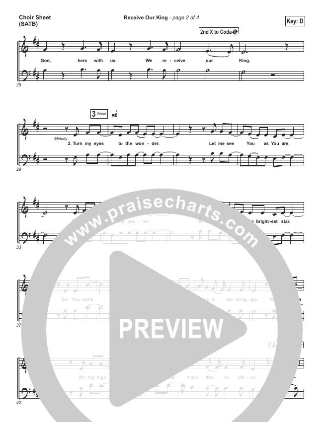 Receive Our King Choir Sheet (SATB) (Meredith Andrews / Michael Weaver)