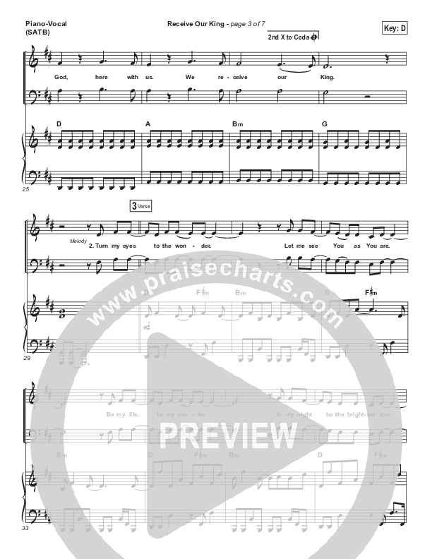 Receive Our King Piano/Vocal (SATB) (Meredith Andrews / Michael Weaver)