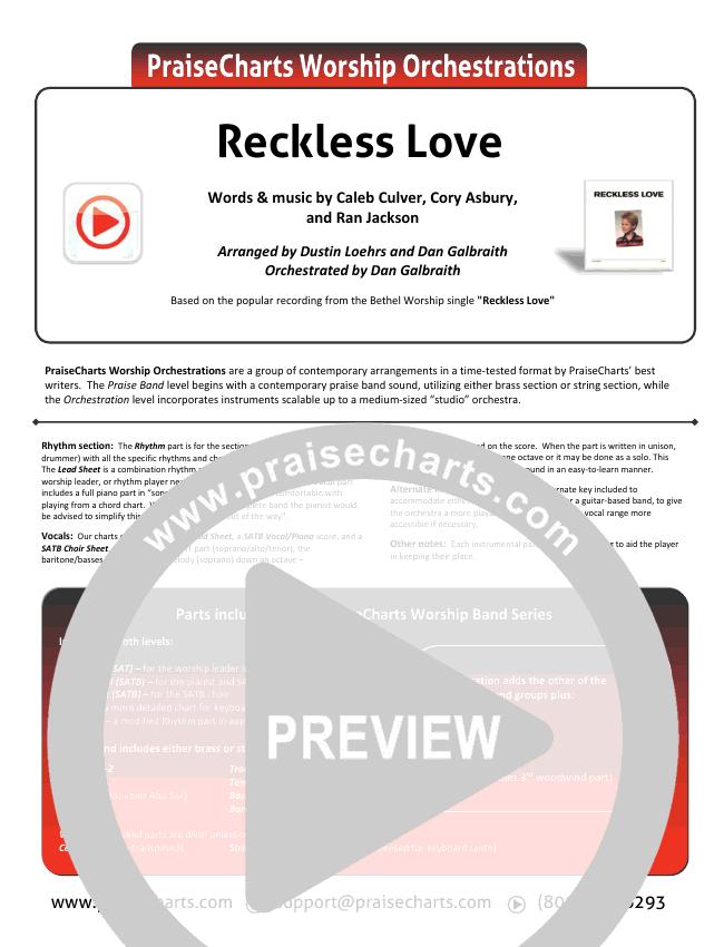 Reckless Love Choir Sheet (SATB) - Bethel Music, Cory Asbury ...