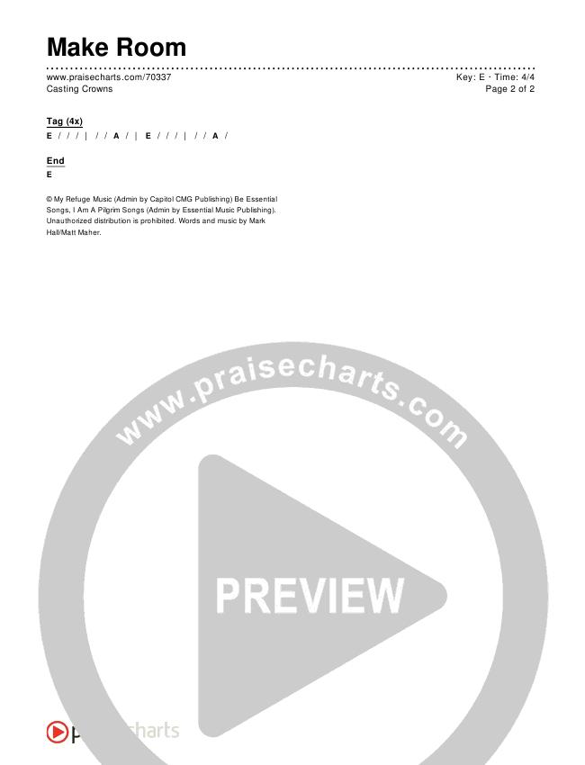 Make Room Chords & Lyrics (Casting Crowns / Matt Maher)