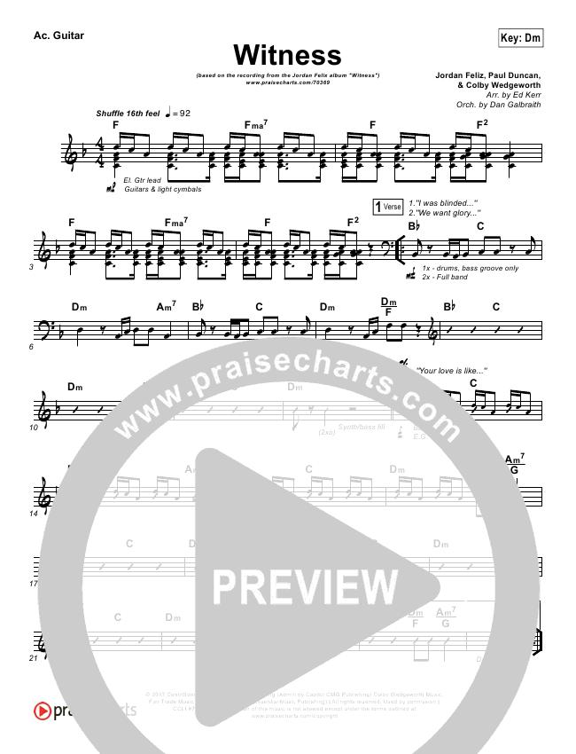 7eefcfd1bfa0c0 Witness Rhythm Acoustic Guitar Chart - Jordan Feliz