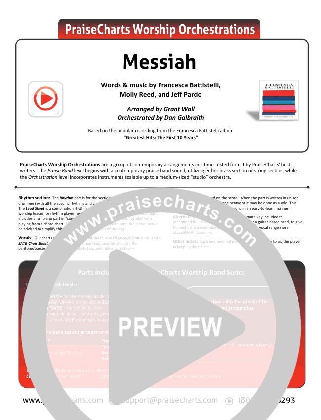 Messiah Orchestration Francesca Battistelli Praisecharts