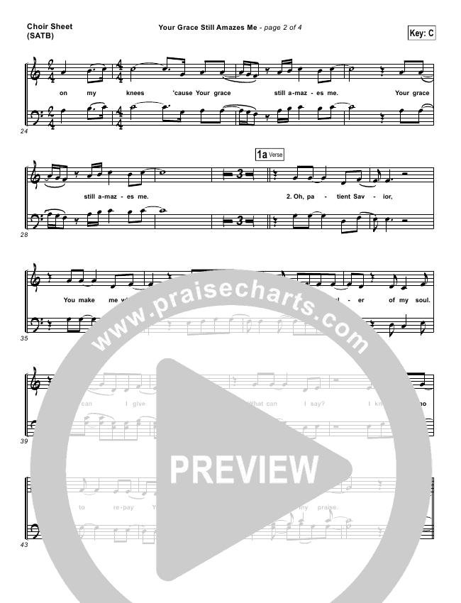 Your Grace Still Amazes Me Choir Sheet (SATB) (Phillips Craig & Dean)