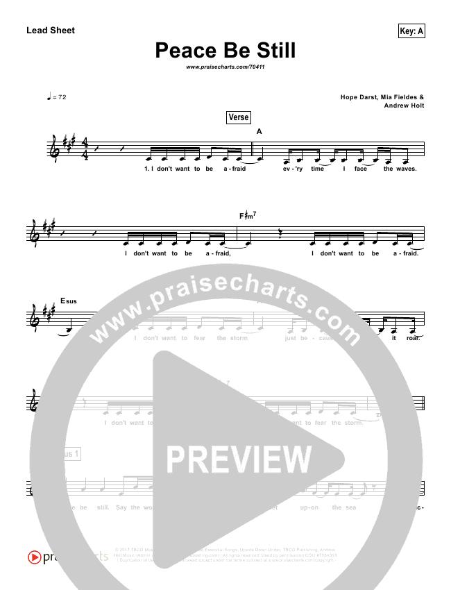 Peace Be Still (Simplified) Lead Sheet (The Belonging Co)