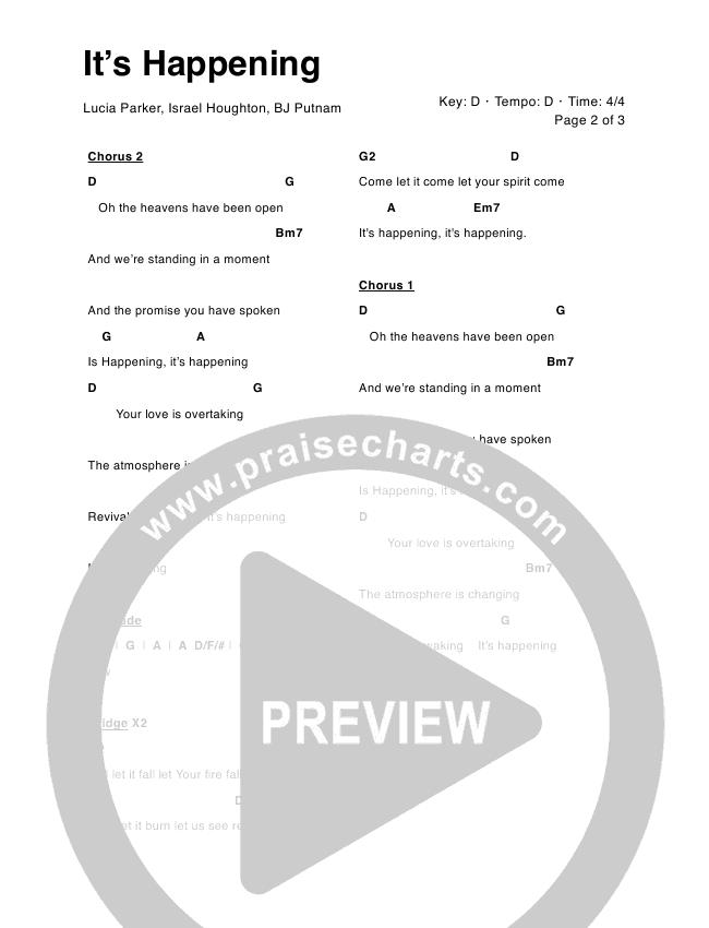 It's Happening Chord Chart (Lucia Parker / BJ Putnam)