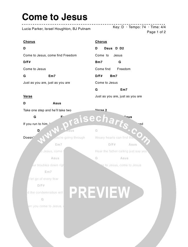 Come To Jesus Chord Chart (Lucia Parker / Nicole Binion)