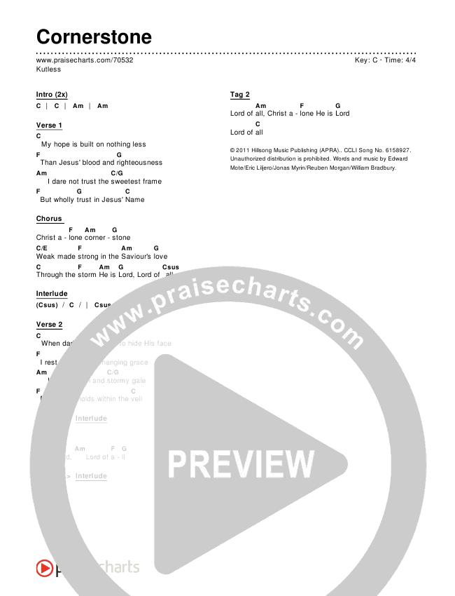 Cornerstone Chords (Kutless)