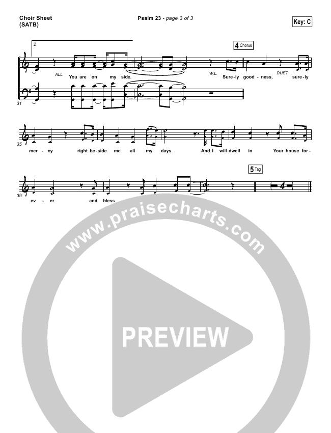 Psalm 23 (Surely Goodness) Choir Sheet (SATB) (Shane & Shane / The Worship Initiative)