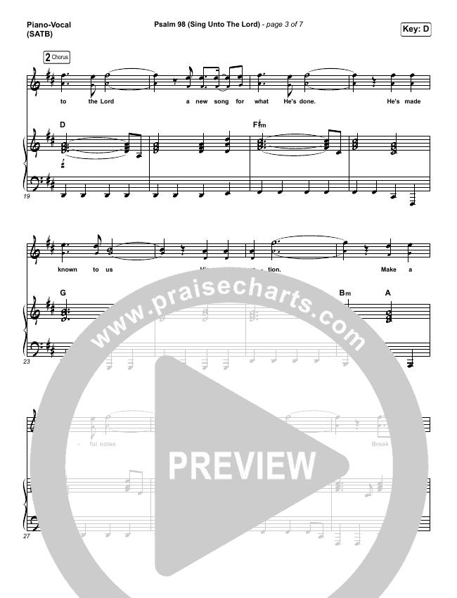 psalm 98 (sing unto the lord) sheet music pdf (shane & shane / the worship  initiative) - praisecharts  praisecharts