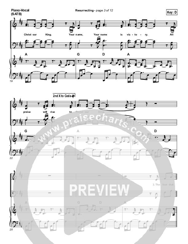 Resurrecting (Acoustic) Piano/Vocal (SATB) (Elevation Worship)