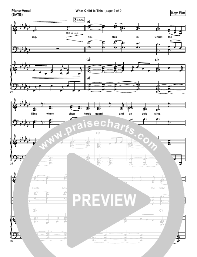 What Child Is This Piano/Vocal (SATB) (The Worship Initiative / Shane & Shane)