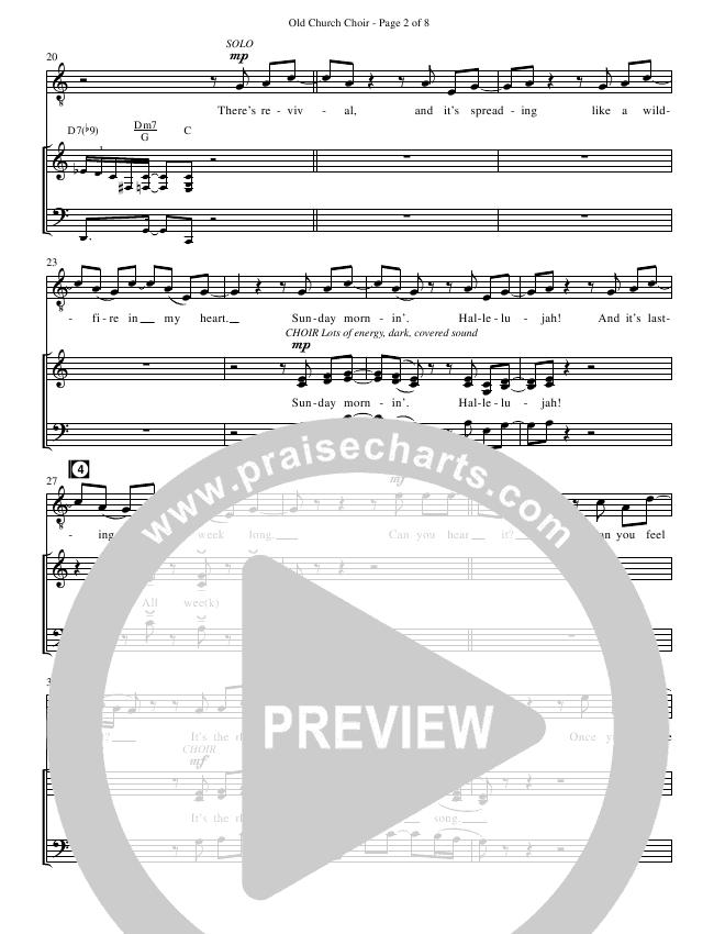 Old Church Choir (Choral) Choir Sheet (SATB) (Zach Williams / Brentwood Benson Choral / Arr. Christopher Phillips)