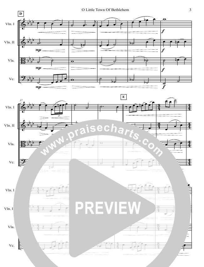 O Little Town Of Bethlehem (String Quartet) String Ensemble (Jared Haschek)