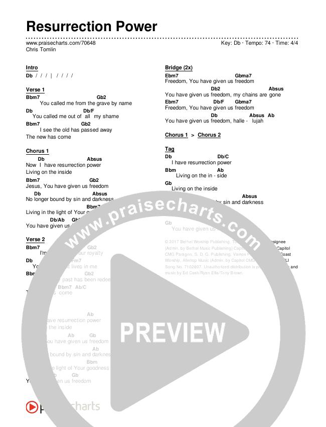 Resurrection Power Chords - Chris Tomlin | PraiseCharts