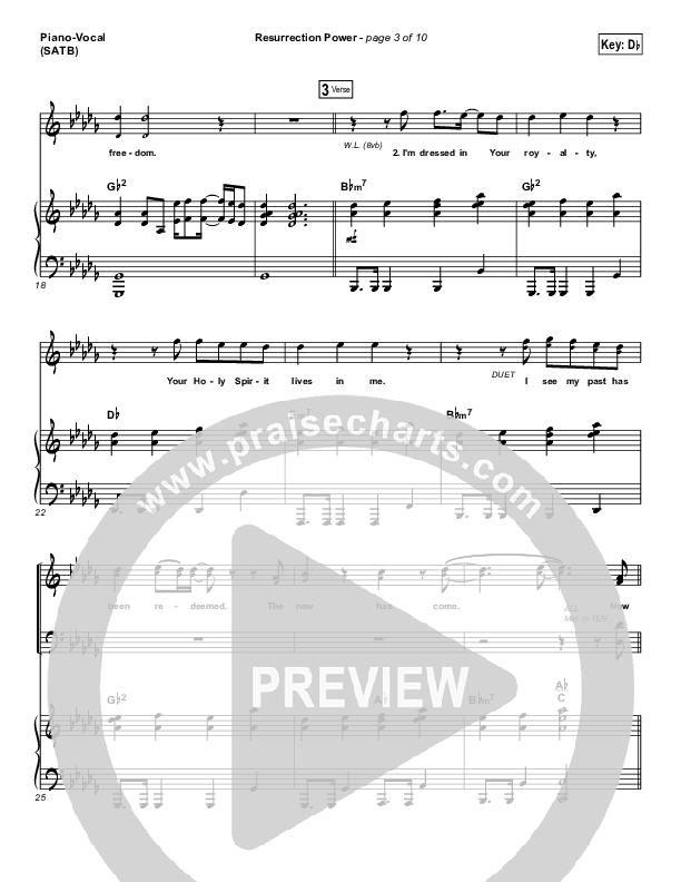 Resurrection Power Piano/Vocal (SATB) (Chris Tomlin)