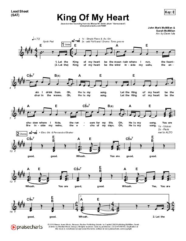 King Of My Heart Lead (SAT) (Michael W. Smith)