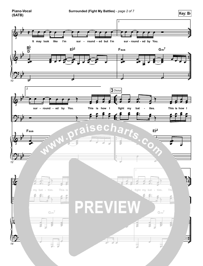 Surrounded (Fight My Battles) Piano/Vocal (SATB) (Michael W. Smith)