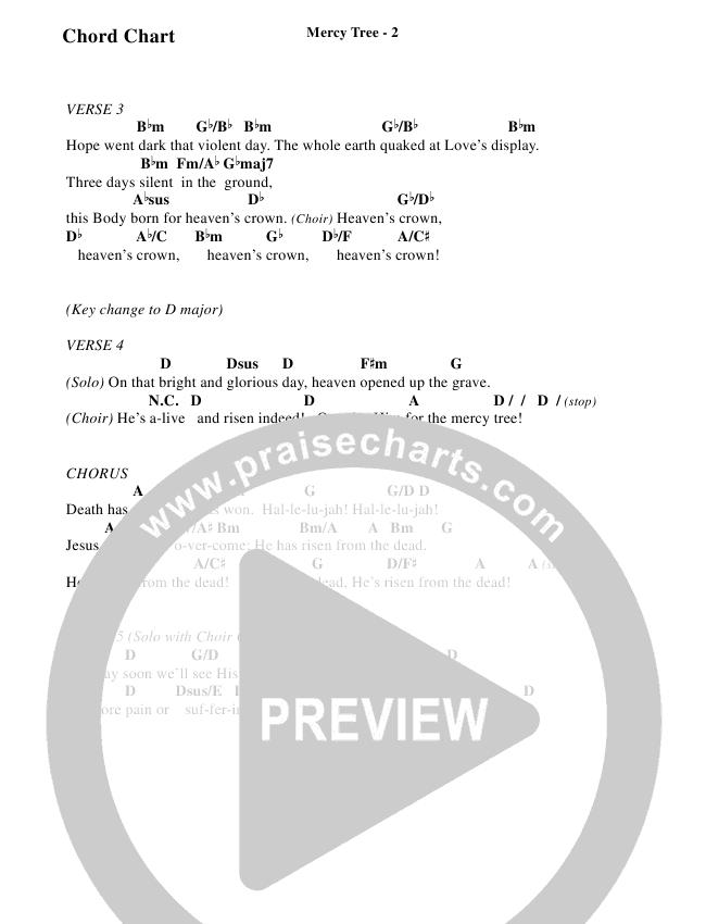 Mercy Tree (Choral) Chord Chart (Brentwood-Benson Choral / Arr. Bradley Knight)