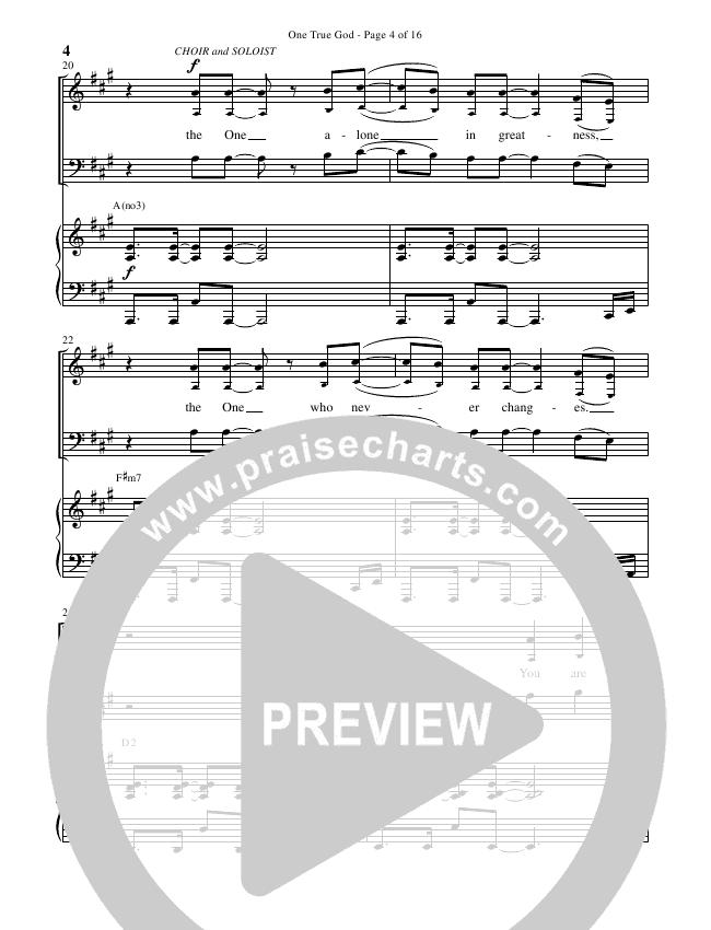 One True God (Choral) Piano Vocal (Steven Curtis Chapman / Brentwood Benson Choral / Arr. Cliff Duren)