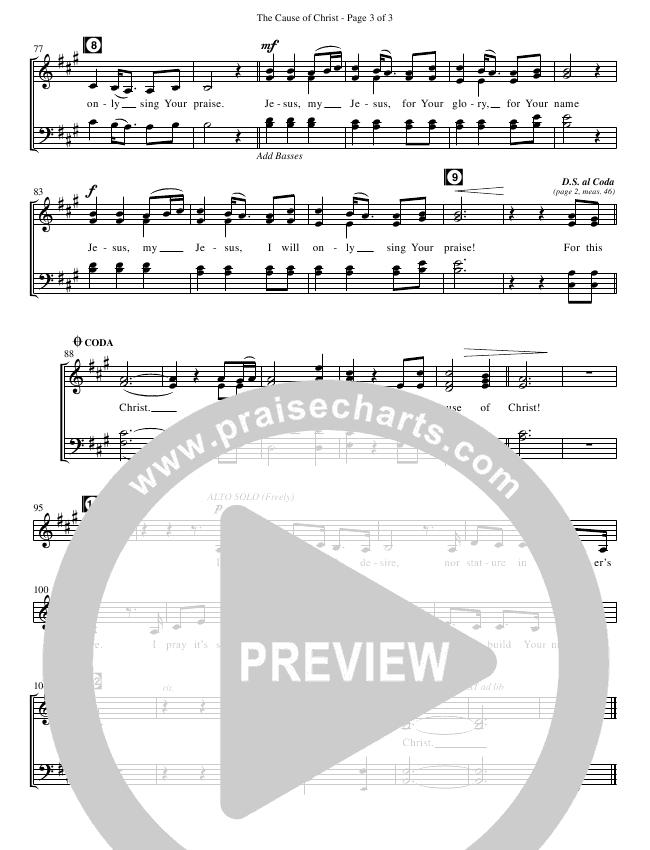 The Cause Of Christ (Choral) Choir Sheet (SATB) (Kari Jobe / Brentwood Benson Choral / Arr. David Clydesdale)