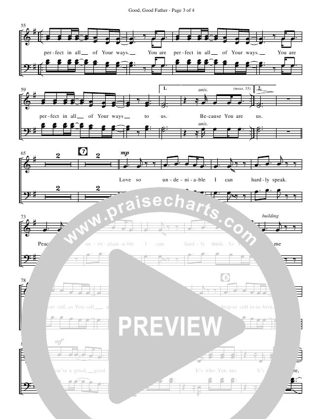 Good Good Father (Choral) Choir Sheet (SATB) (Chris Tomlin / Brentwood Benson Choral)