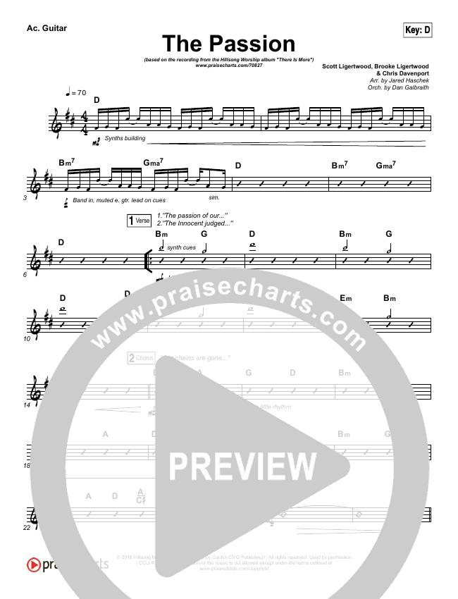 The Passion Rhythm Chart (Hillsong Worship)