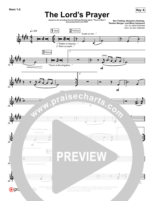 The Lord's Prayer Brass Pack (Hillsong Worship)