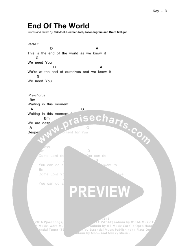 Fine End Of The World Chords Pattern Basic Guitar Chords For