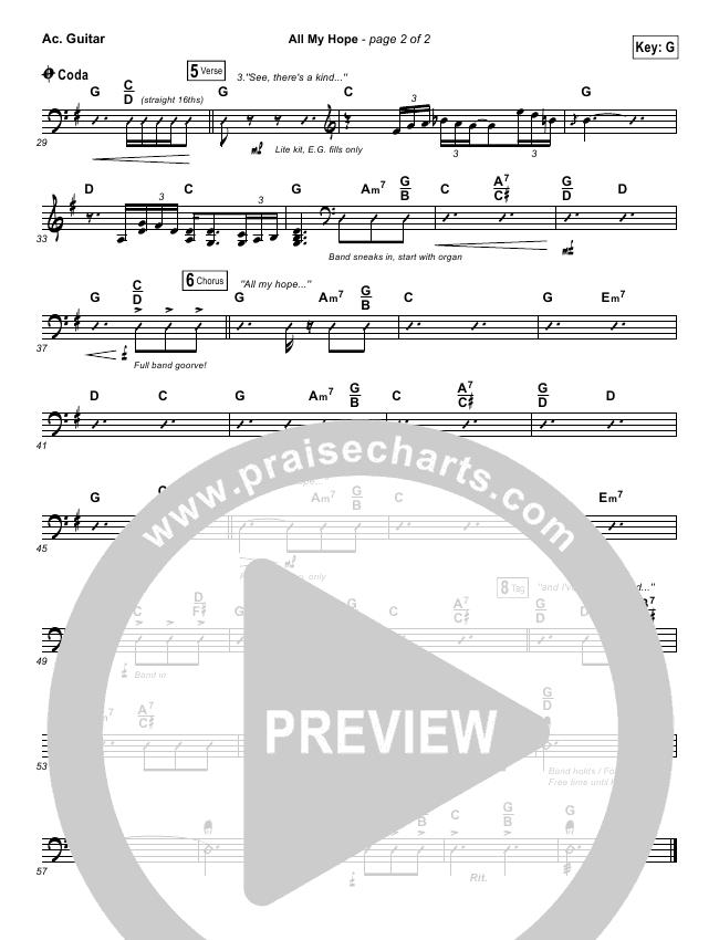 All My Hope Rhythm Chart (Passion / Crowder / Tauren Wells)
