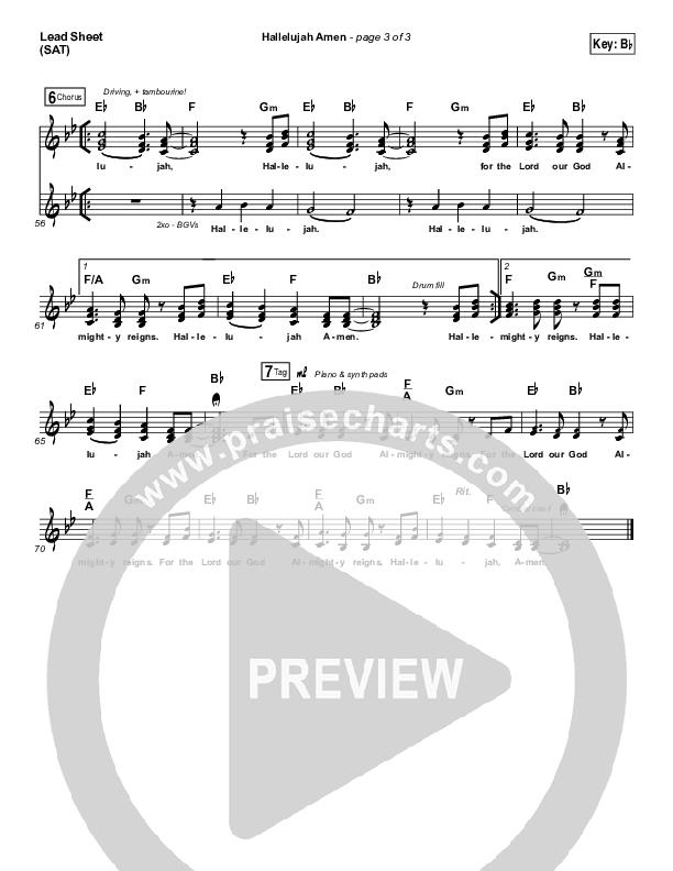 Hallelujah Amen Lead & Piano/Vocal (Vertical Worship / Jon Guerra)
