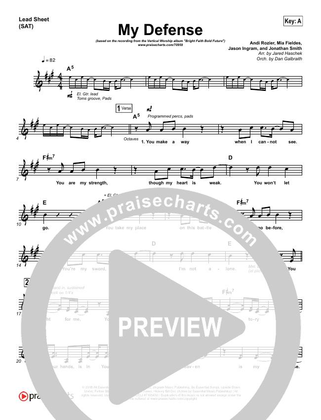 My Defense Lead Sheet (SAT) (Vertical Worship)