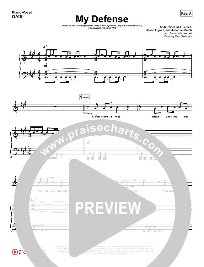 My Defense Piano/Vocal (SATB) (Vertical Worship)