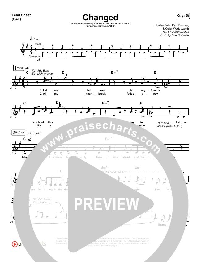 Changed Lead & Piano/Vocal (Jordan Feliz)
